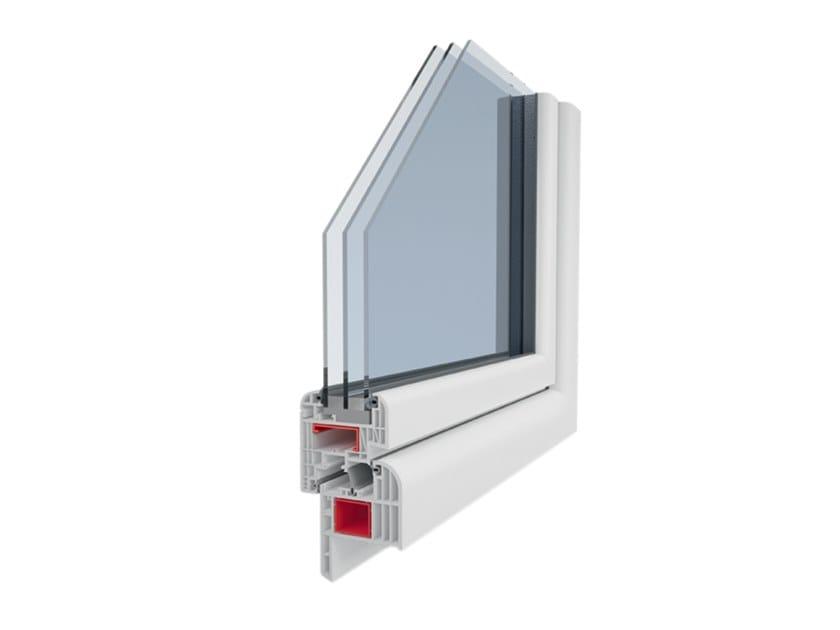PVC thermal break window GIOTTO 9C by Ital-Plastick