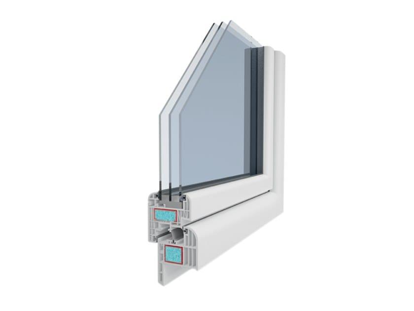 Fenster Dreifachverglasung fenster aus pvc mit thermischer trennung mit dreifachverglasung