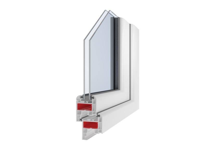 PVC double glazed window GIOTTO ELEGANT by Ital-Plastick