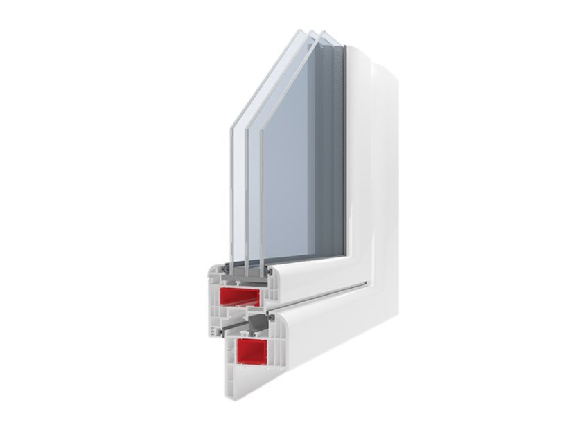 PVC thermal break window GIOTTO PLUS by Ital-Plastick