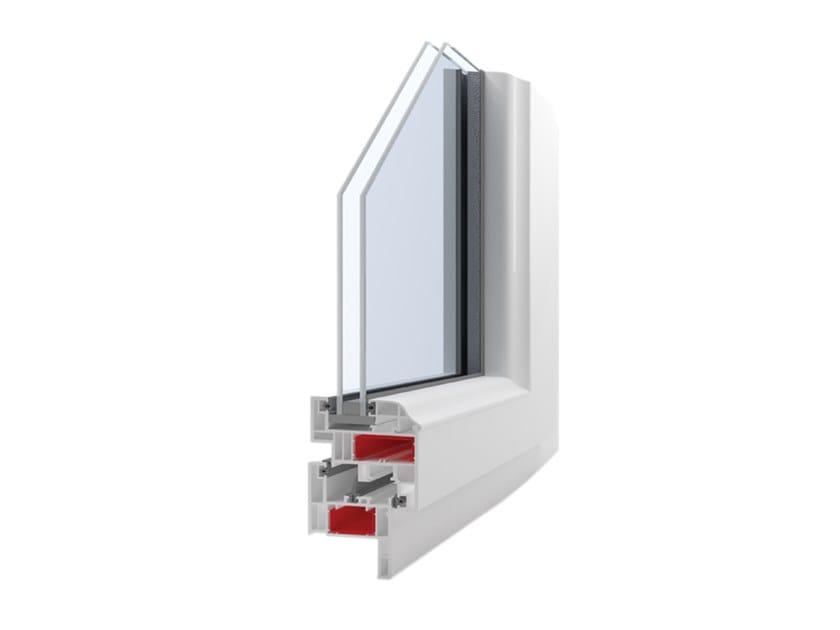 PVC double glazed window GIOTTO QUADRA by Ital-Plastick