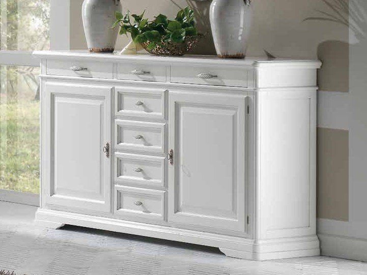 Solid wood sideboard with doors GIOTTO   Lacquered sideboard by Arvestyle