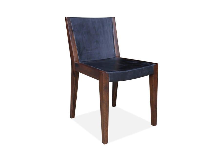 Sedie Design Legno E Pelle.Sedia In Legno E Pelle Giovanni By Costantini