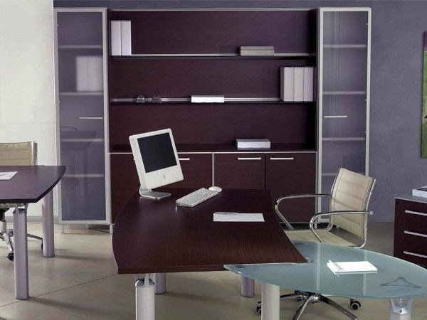 Wooden office storage unit / office shelving GIOVE | Office shelving by Arcadia