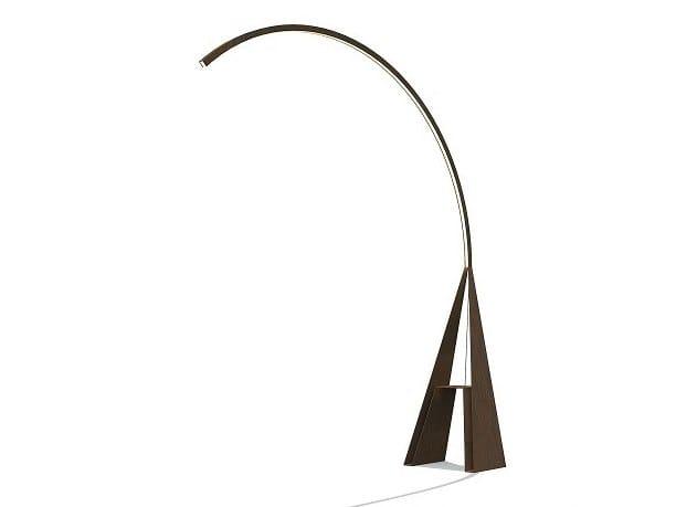Lampada ad arco in acciaio Corten™ GIRAFFA by TrackDesign