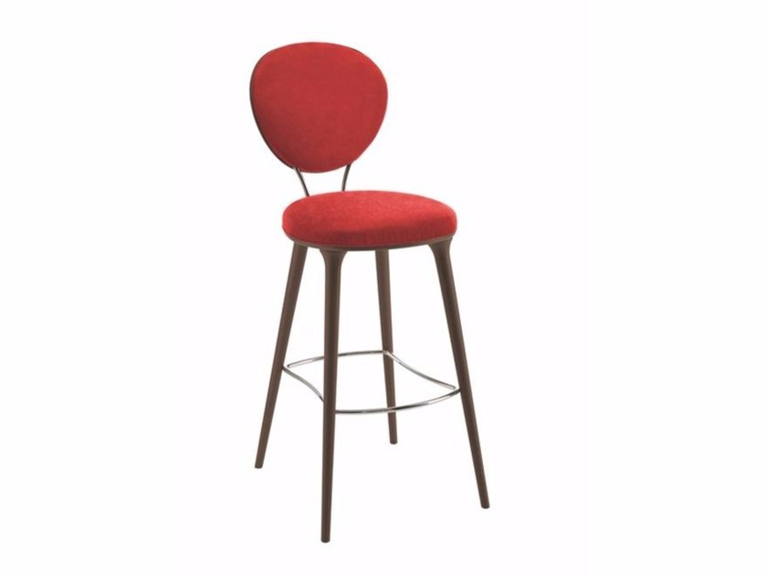 High fabric barstool with back GIRIA | Stool by Cizeta L'Abbate
