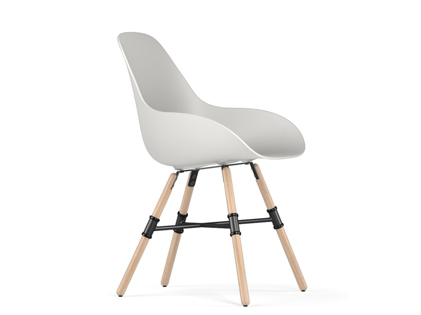 Polypropylene chair GIRO DIMPLE CLOSED by KUBIKOFF