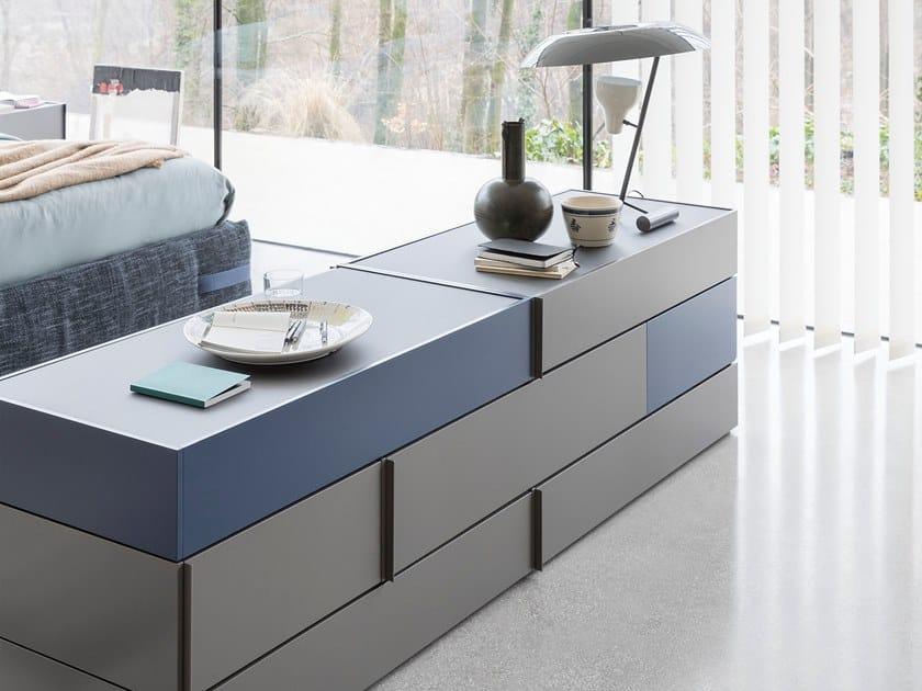Sectional chest of drawers GIRO-GIRO SYSTEM by Novamobili