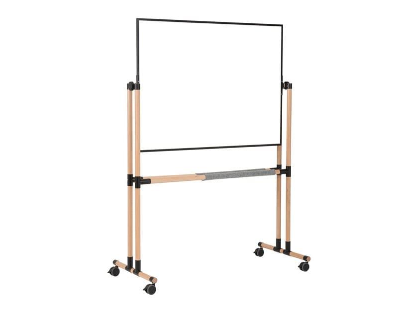 Swivel magnetic enamelled steel office whiteboard with casters GIRO | Office whiteboard with casters by ARCHYI. by Bi-silque