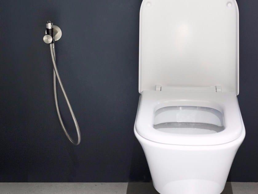 Stainless steel toilet-jet handspray GIRO_SCHIZZO by Antonio Lupi Design