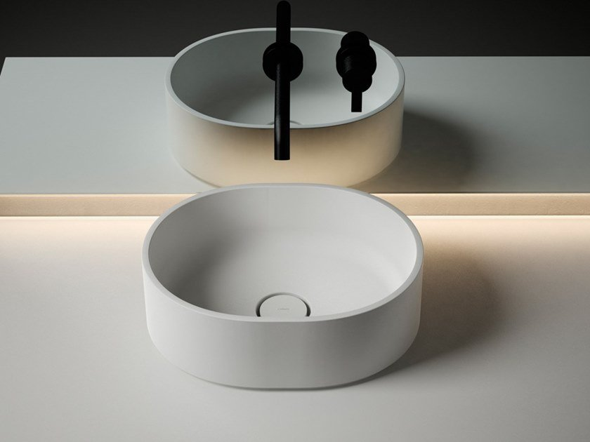 Countertop round Solid Surface washbasin GIRO | Solid Surface washbasin by INBANI