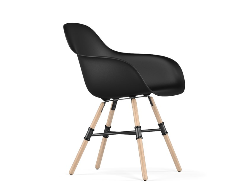 Polypropylene chair with armrests GIRO V9 | Chair with armrests by KUBIKOFF