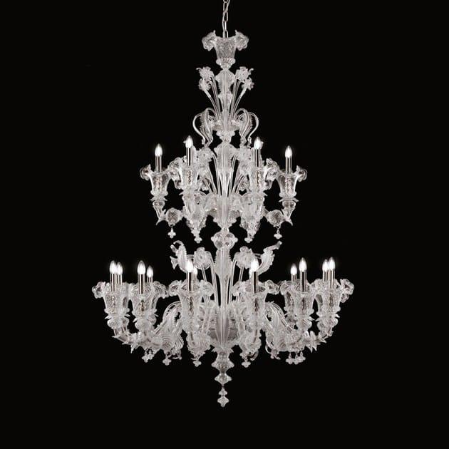 Classic style handmade glass chandelier GIUDECCA | Venetian style chandelier by MULTIFORME
