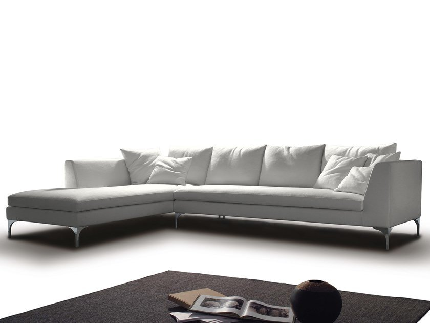 5 seater corner fabric sofa GIULIA by Flexstyle