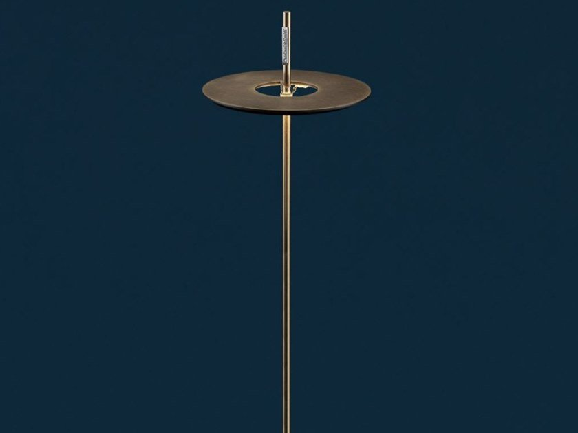 LED brass floor lamp with rechargeable battery GIULIETTA BE F by Catellani & Smith