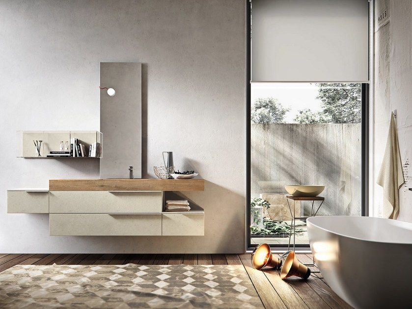 Mobile lavabo sospeso con cassetti giunone 354 by edoné by agorà