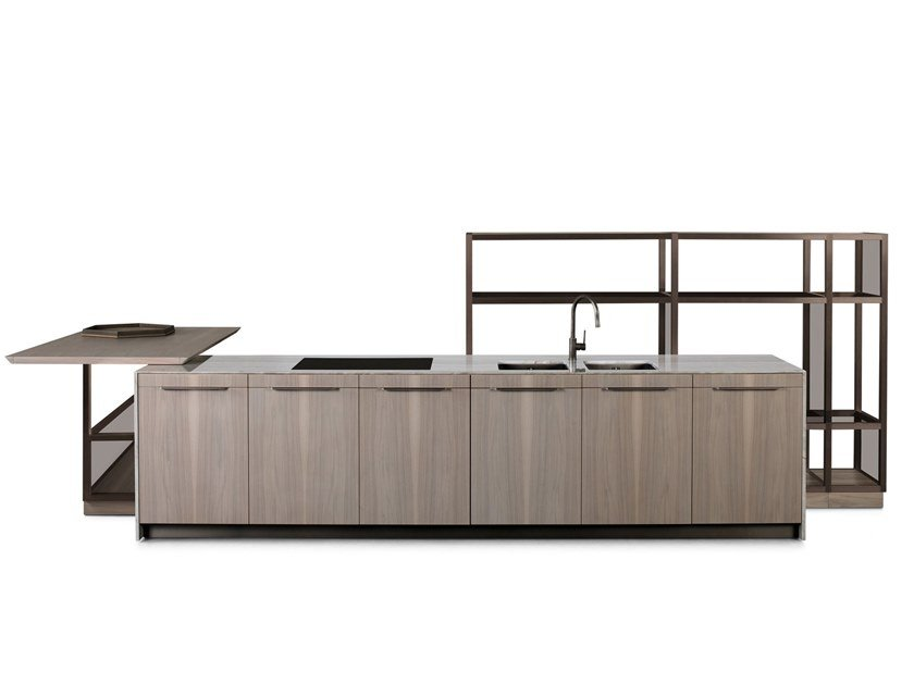 Wooden kitchen with island GK.03 by GIORGETTI