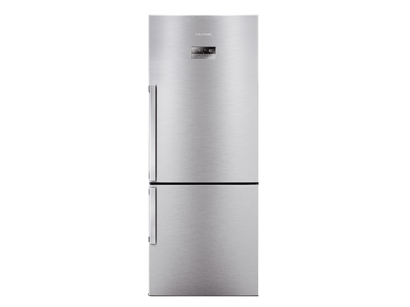 Double door freestanding refrigerator GKN 17920 FX | Double door refrigerator by Grundig