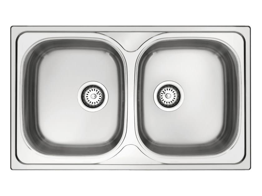 Single built-in stainless steel sink GL279X | Sink by Glem Gas
