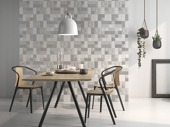 Porcelain 3D Wall Tile GLAM by ITT Ceramic
