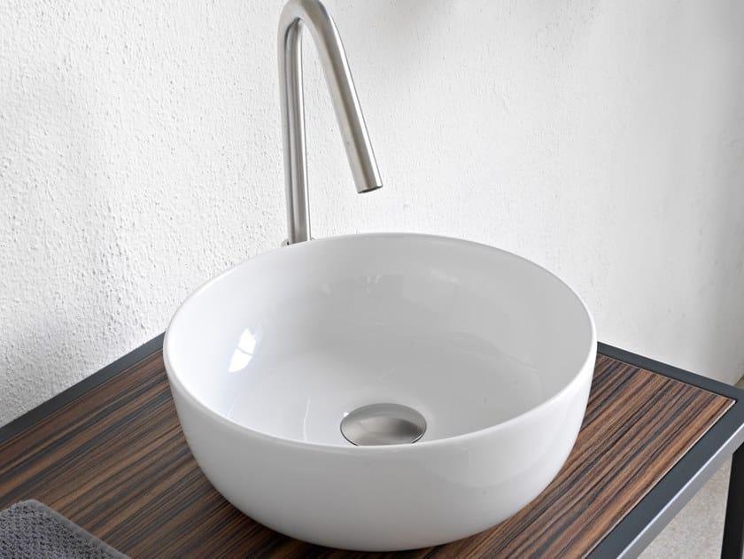 Countertop round ceramic washbasin GLAM | Round washbasin by Scarabeo Ceramiche