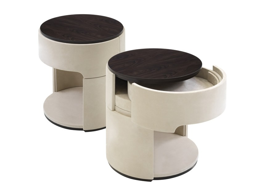 Round bedside table with drawers GLAM by Smania