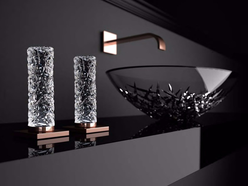 Deck-mounted crystal remote control tap GLAMOROUS TUNING by Glass Design