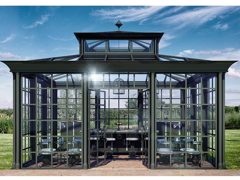 Glass and aluminium Winter garden GLAMOUR by Samuele Mazza by DFN