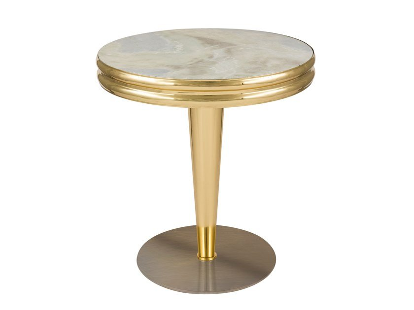 Round marble coffee table GLASGOW by Green Apple