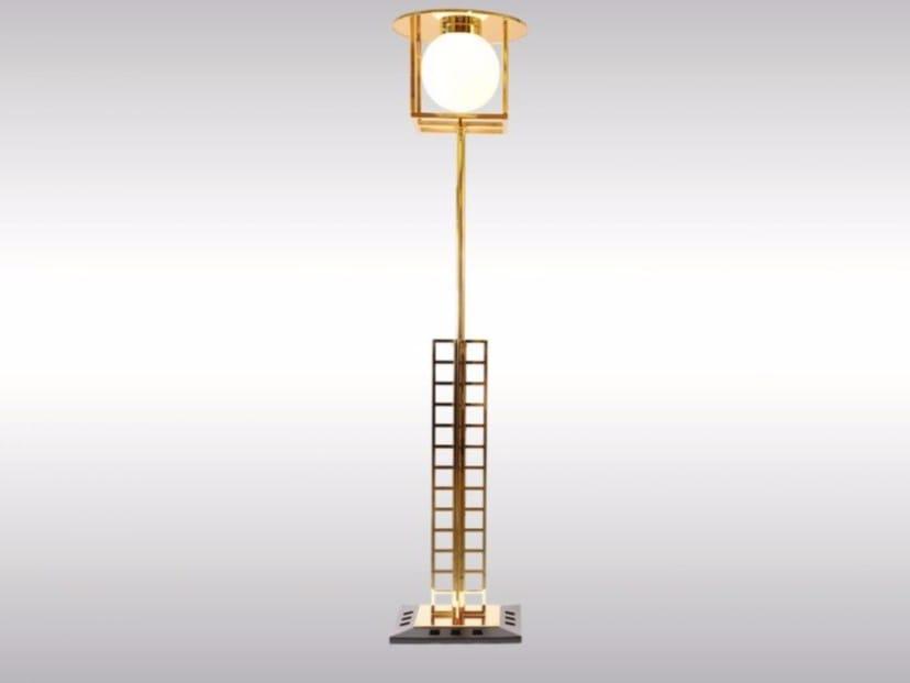 Brass floor lamp GLASGOW by Woka Lamps Vienna