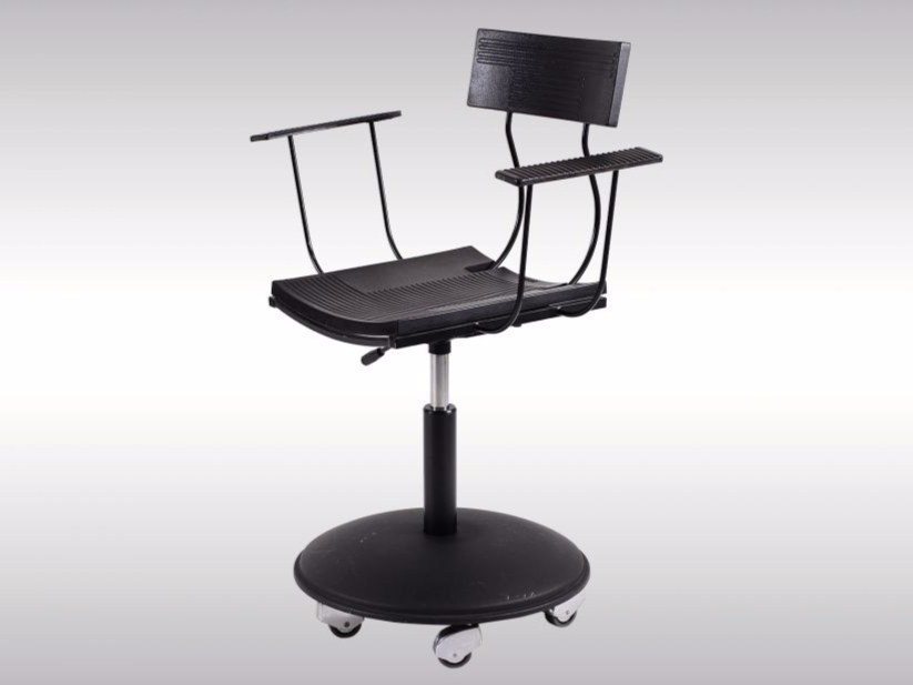 Swivel chair with casters GLASNOST by Woka Lamps Vienna