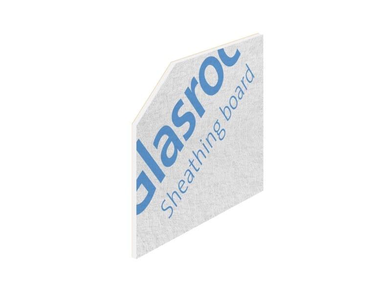 Fireproof moisture resistant gypsum plasterboard GLASROC® X by Saint-Gobain Gyproc