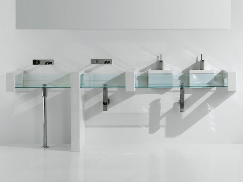 Countertop rectangular glass washbasin GLASS | Countertop washbasin by GSG Ceramic Design