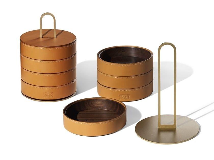 Leather storage box GLI OGGETTI - ZHUANG by Poltrona Frau