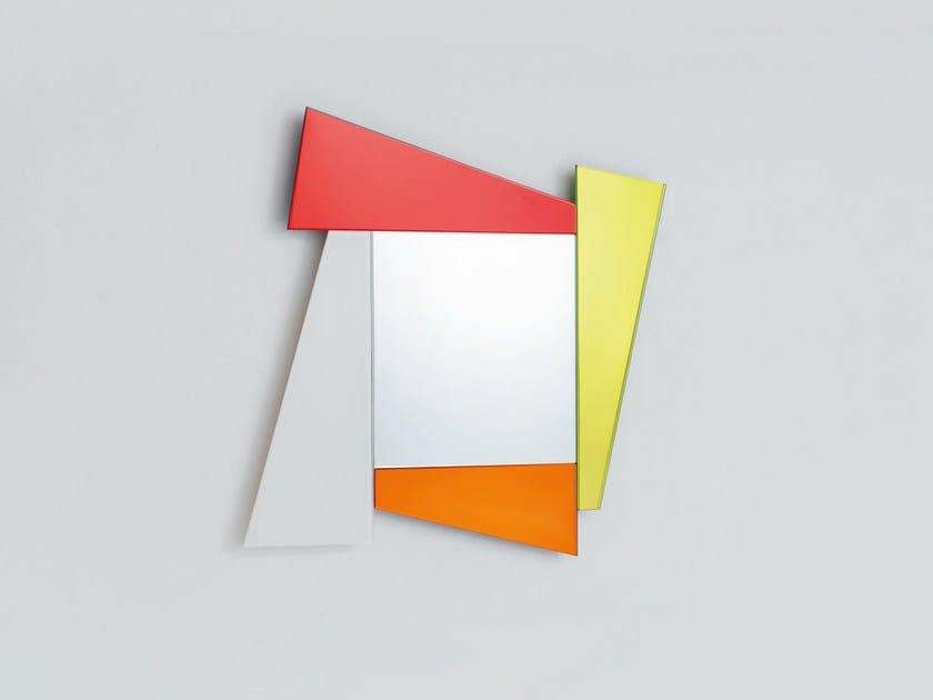 Quadratischer spiegel zur wandmontage mit rahmen gli specchi di