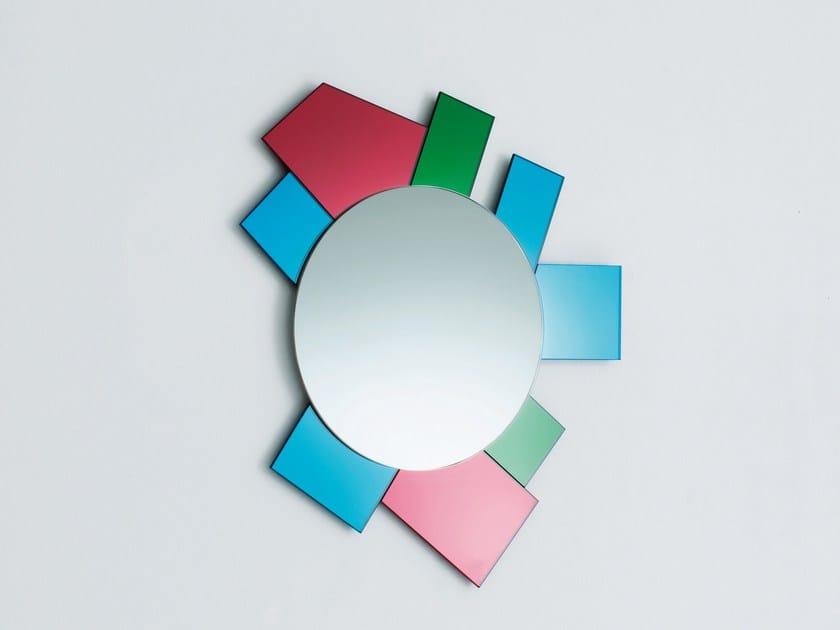 Espelho redondo moldurado de parede GLI SPECCHI DI DIONISO 6 by Glas Italia