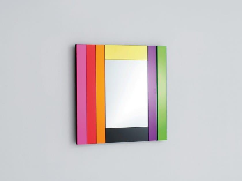 Rechteckiger spiegel zur wandmontage mit rahmen gli specchi di