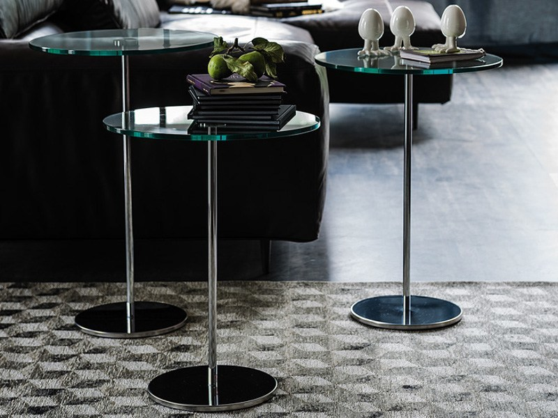 Round crystal high side table GLISS by Cattelan Italia