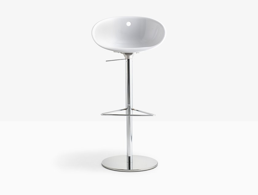 Height-adjustable swivel stool GLISS 970 by Pedrali