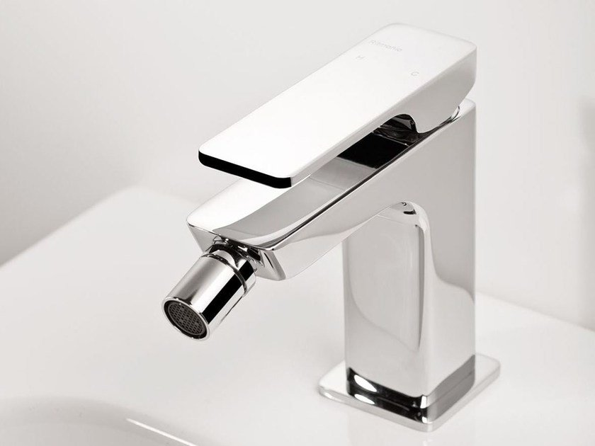 Single handle bidet mixer with swivel spout GLITTER | Single handle bidet mixer by RITMONIO