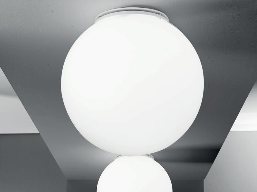 Plafoniere Vetro Satinato : Plafoniera a soffitto per interni tonda in vetro satinato riporti