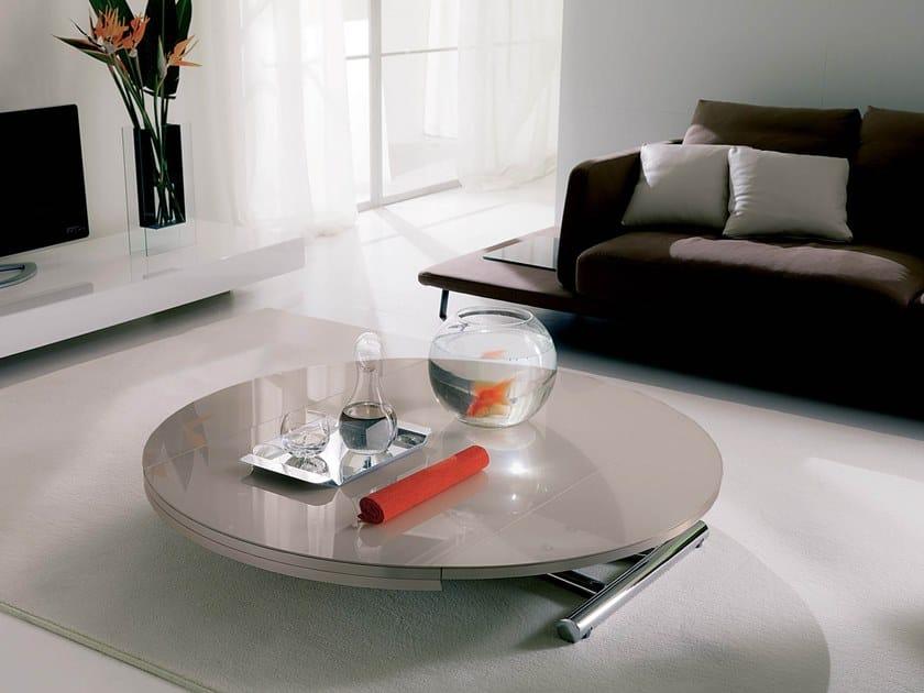 Height-adjustable crystal coffee table GLOBE CR by Ozzio Italia