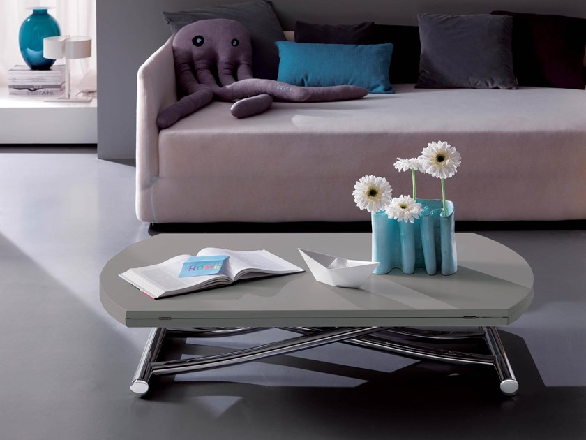 Height-adjustable coffee table GLOBE by Ozzio Italia