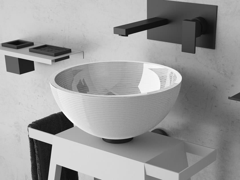 Countertop round glass washbasin GLOBO by Glass Design