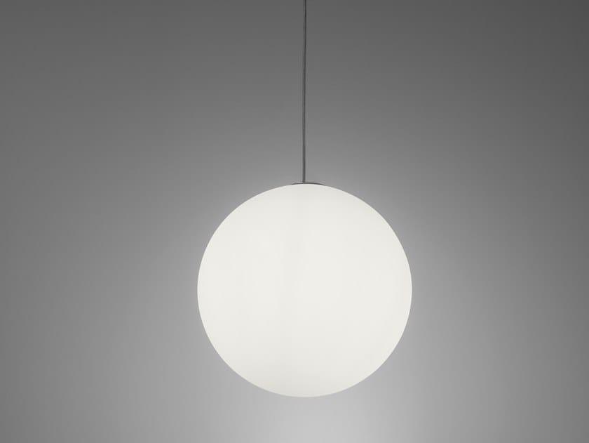 Polyethylene pendant lamp GLOBO HANGING by SLIDE