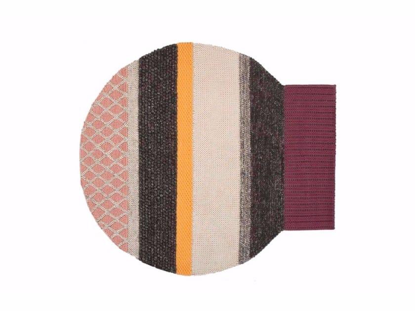 Striped wool rug GLOBO   Rug by GAN
