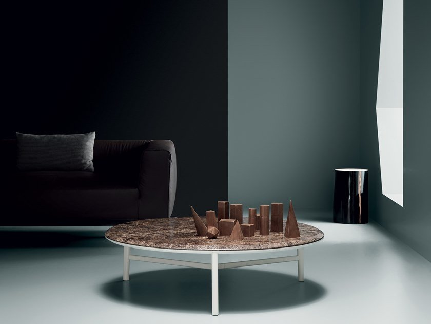 Round marble coffee table GLOBO   Marble coffee table by Md House