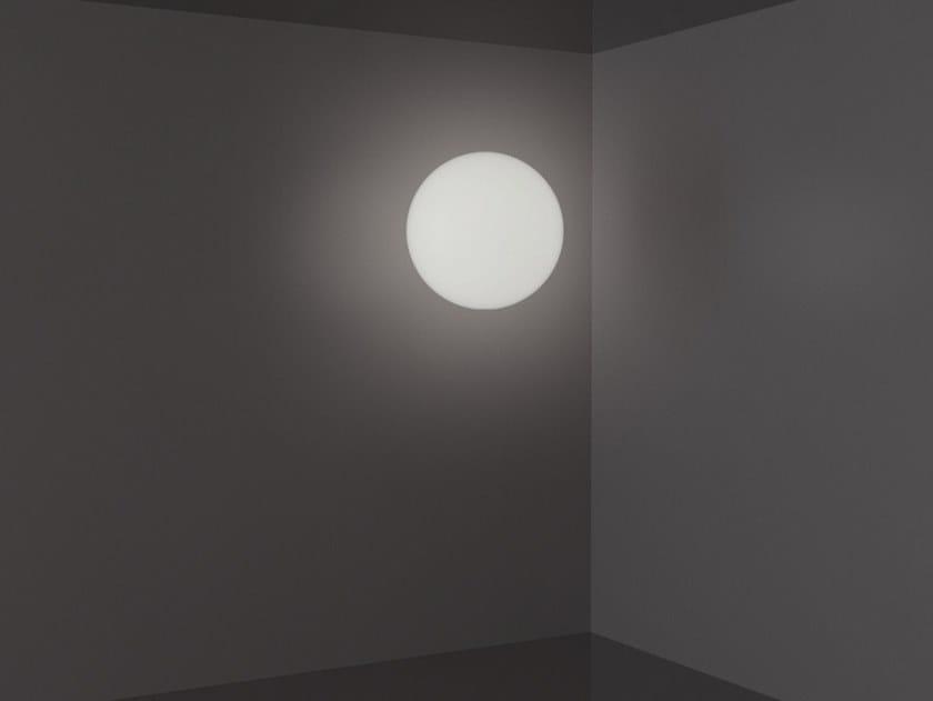 Polyethylene ceiling light GLOBO WALL by SLIDE