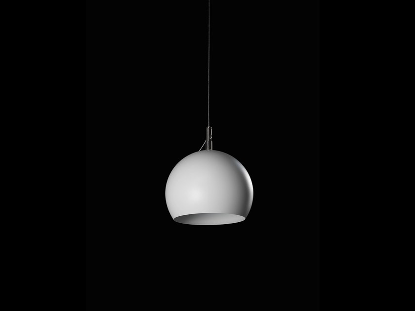 Lampada a sospensione alogena in alluminio verniciato a polvere GLOBO by LUNOO