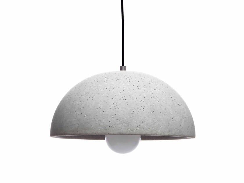 Concrete pendant lamp GLOBUS 280 by URBI et ORBI